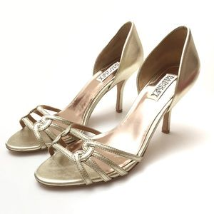 Badgley Mischka Open Toe D'orsay Heels Sandals